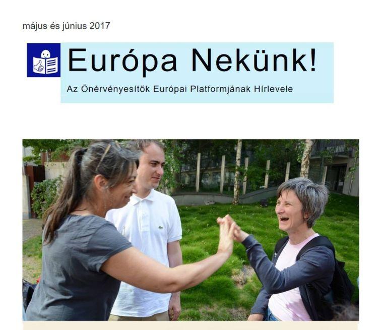 Elérhető az Európa Nekünk! című önérvényesítő hírlevél legújabb száma