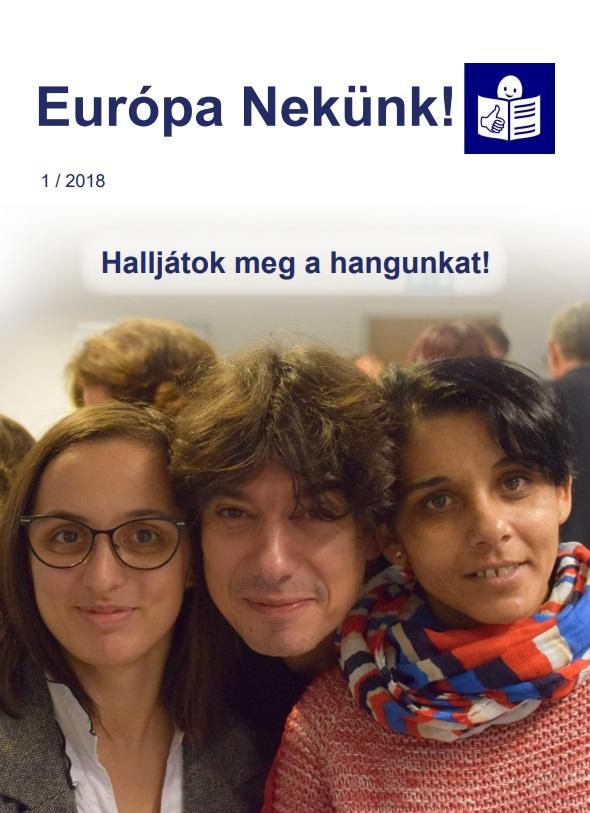 Európa Nekünk! – Könnyen érthető hírlevél, első szám 2018-ban